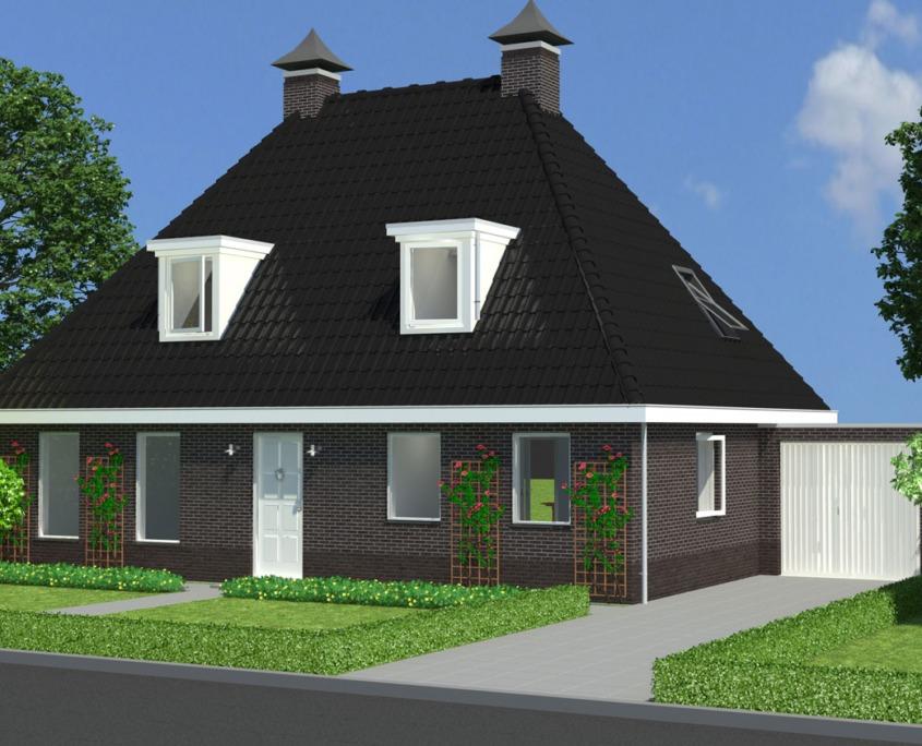 Vrijstaande woning model valk accent bouw wonen b v for Catalogus woning bouwen